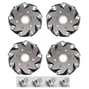 "WSR 100mm (4"") Mecanum Wheel Kit 4 Pack"