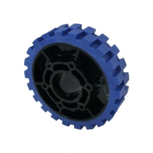 WSR 4 inch 100mm HiGrip Wheels Blue (Soft) with Hub Conversion Plate - 4 pack